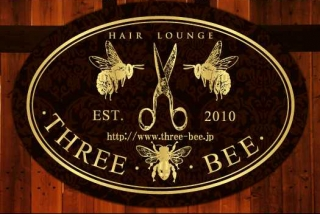 hair lounge  THREE BEEロゴ