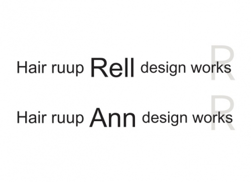 Hair ruup Rell design worksロゴ